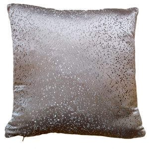 Smooth Dotted SIlver Cushion (small)