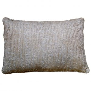 Wide Brown & White Hatched Cushion