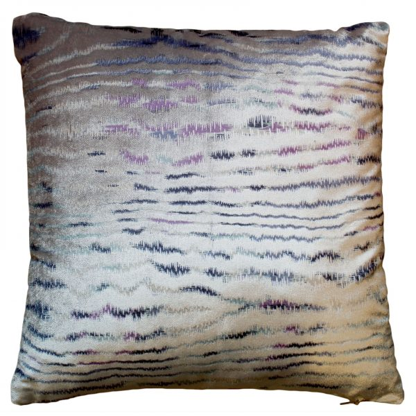 Cool Wavy Stripes Silver Cushion