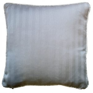 Light Grey Oblique Stripes Cushion