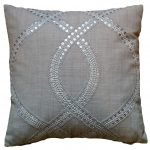 Silver Ringed Lines Cushion (small)