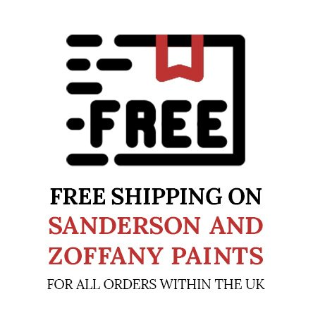 Free Shipping on all Sanderson and Zoffany paints