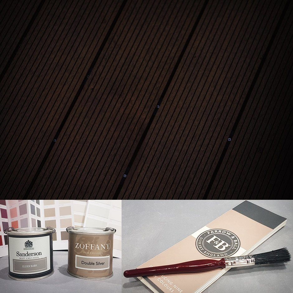 Zoffany, Sanderson and Farrow & Ball paints suitable for exterior woodwork