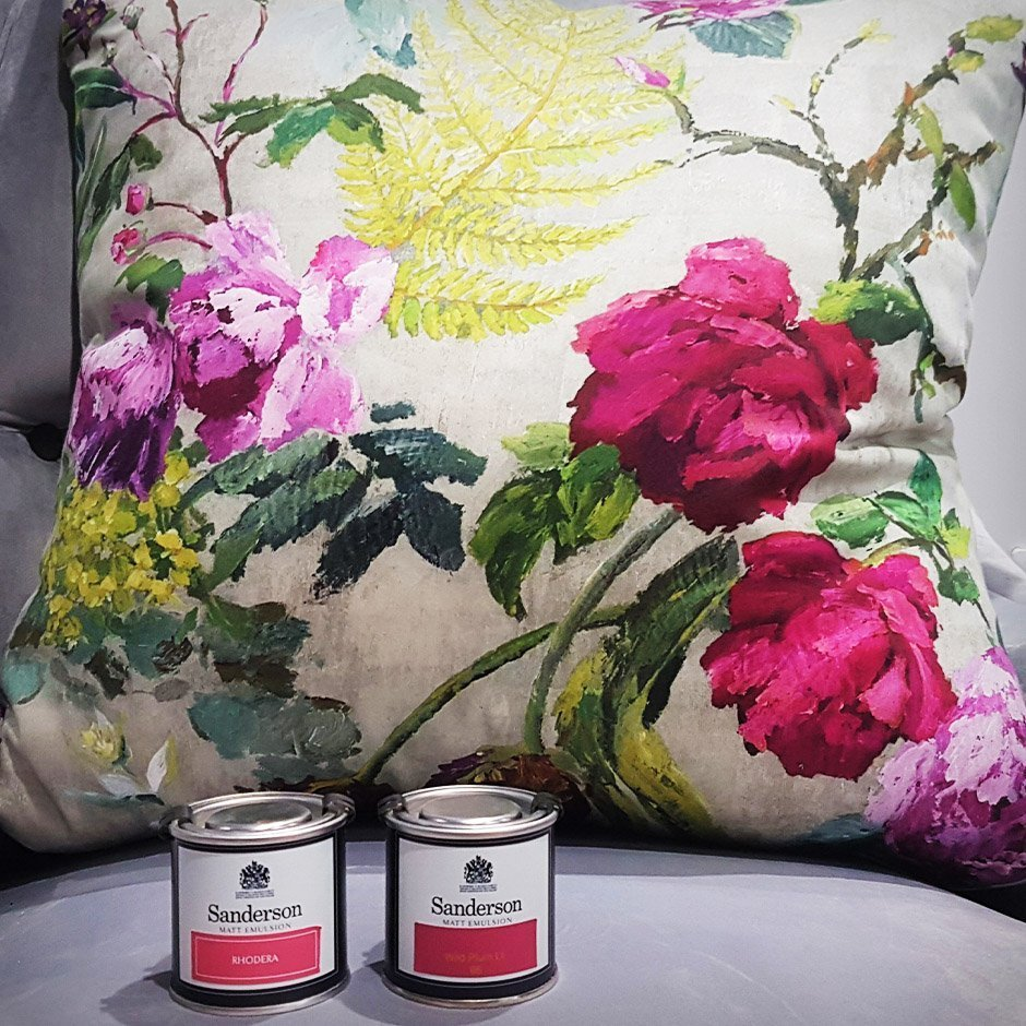 Under £100 - Sanderson Paints - Designers Guild Cushion