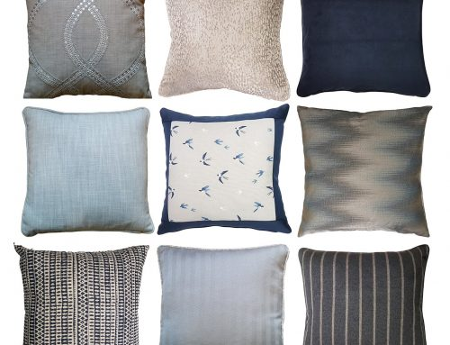 9 Cushions that play well with Navy blue
