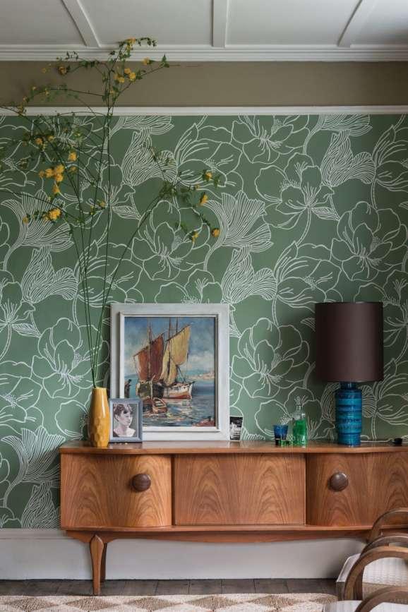 Helleborus Farrow and Ball Wallpaper - Distinctive ...